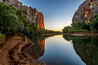 Sunset at Windjana Gorge